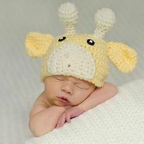 Newborn Baby Lamb Hat Knitted Crochet Costume Photography Props Handmade Cap Photo