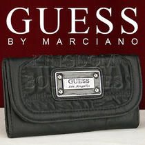 Newest Brand Guess Ladies Wallet Purse Jolene Black Slg Authentic Usa Photo