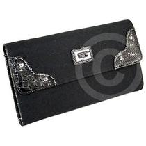 Newest Brand Guess Ladies Wallet Purse Signs Coal Canvas Slg Usa Photo