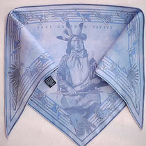 Newest Hermes Pani La Shar Pawnee Silk Indigo Dye Pointu Scarf by Kermit Oliver  Photo
