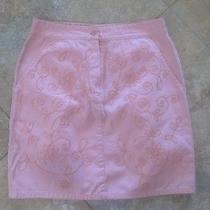 Newport News 100% Cotton Twill Skirt Blush Pink Size 4 Photo