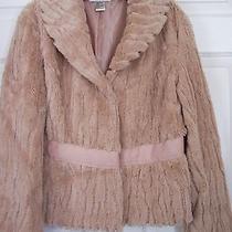Newport News Pink Blush Faux Fur Jacket Size 12 Photo