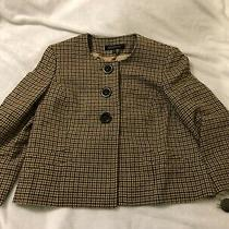 Newtags Anne Klein 100% Lambs Wool Brown/tan Lined Jacket Size 8 Photo