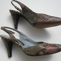 Newton Elkin New York Authentic True Vintage Heels Ladies 6.5 Python Snakeskin Photo