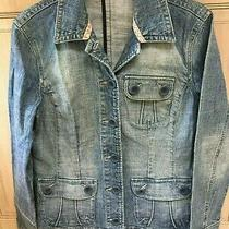 Next  Beautiful Light Blue Jeans Denim Jacket Size 10 Excellent Condition Photo