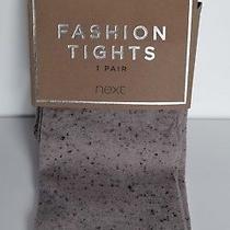 Next Blush Pink & Black Fleck Opaque Fashion Tights M L Bnwt Photo
