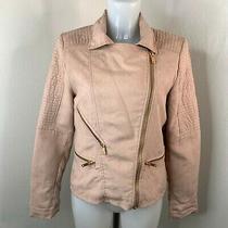 Next  Blush Pink Moleskin Biker Jacket  Size 12 Photo