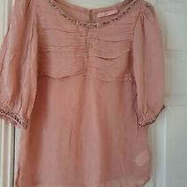 Next Hardly Worn Blush Pink Top Size 12 Photo