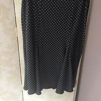 Next Navy Polka Dot Skirt Size 10 Excellent Pretty Bustle Detail on Back Lovely Photo