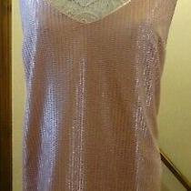 Next Shimmering Pink Rose Gold Strappy Chiffonsatin Cami Size 20 Bnwot Photo