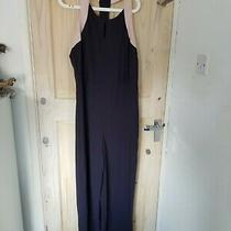 Next Tall 16 Navy and Blush Wide Leg Jumpsuit Photo