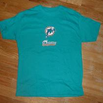 Nfl Fan Miami Dolphins Football Boys Aqua T-Shirt With Helmet New Size M (10-12) Photo