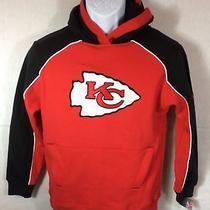 Nfl Kansas City Chiefs Sweatshirt Hoodie Sz Youth L 10/12 - Sewn Logo Nwt Photo