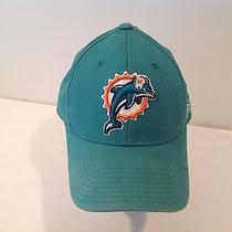Nfl Miami Dolphins Green Fitted Hat by Reebok  Photo