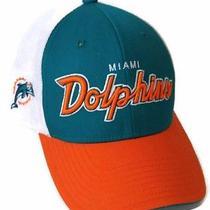Nfl Miami Dolphins Hat Truckers Mesh Snapback Throwback Reebok Osfm Cap Photo