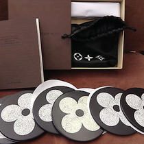 Nib 100% Auth Louis Vuitton Vip Monogram Eggshell  Lacquer Coasters Set of 6 Photo