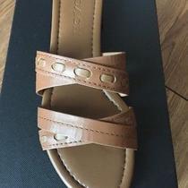 Nib 145 Coach Ariana Saddle Leather Slip on Sandals Sz 6m Photo