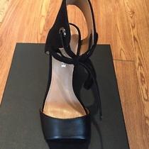 Nib 145 Coach Madison Black Leather & Suede Heels Sz 8.5m Photo