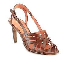 Nib198 via Spiga Leather Sandal 6 Neutral Brown Heels Zara Dolce Vita Nine West Photo