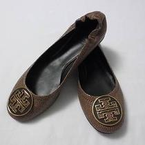 Nib 235 Tory Burch Coconut Stingray Leather Reva Ballet Flats Shoes 8m Photo