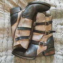 Nib295 Free Peoplefreebird by Steven 'Apex' Ankle Boot Leather Stone 8m Photo