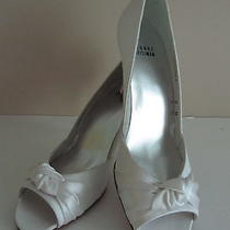 Nib 298 Stuart Weitzman Turalu Satin Pumps 12               White Wedding Shoes Photo