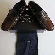 Nib 580 Prada Leather Shoes Loafers Prada Size 11 Us 12 Eu 45.5 Photo