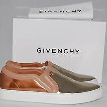 Nib 650 Givenchy Bicolor Gold Metallic Leather Slip-on Sneakers Shoes 9 Us/ 39  Photo