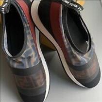 Nib 690 Fendi Logo Runway Mesh Ff Trainer Sneakers Flat Shoes Sz Eu 39 Photo