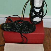 Nib 975 Valentino Garavani the Rope Leather Tie Sandals - Sz 8 B / 38 Eu Photo