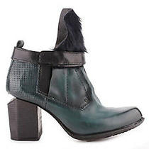 Nib a.s.98  As98 Free People Poket Teal Leather Fur Ankle Boots Booties  37  6.5 Photo