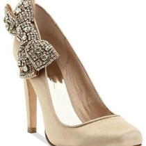 Nib Abs by Allen Schwartz Sabrena Wedding Bridal  Pump Heels Shoes Taupe  65 Photo