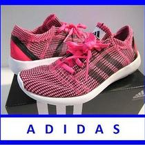 Nib Adidas 80 Women's 5 Running Element Refine Tricot Pink Shoes New in Box Photo