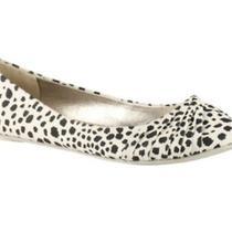 Nib Aldo Cream/ Black Ballet Flats Shoes Retail 40.00 Size 9 Photo