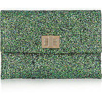 Nib Anthropologie Anya Hindmarch Valorie Glitter Emerald Leather Clutch Bag Photo