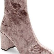 Nib Anthropologie Jeffrey Campbell Cienega Taupe Crushed Velvet Booties-Size 8.5 Photo