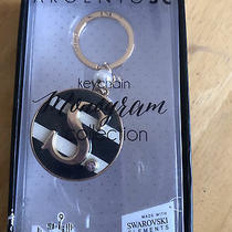 Nib Argento Sc Key Ring Chain Monogram Collection S Swarovski Crystal Elements Photo