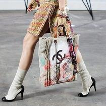 Nib Auth 2014 Chanel Runway Patent Leather High Boot White Sock Shoe Sz 39 Photo