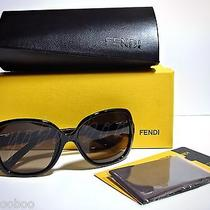 Nib Auth Fendi Women Designer Sunglasses Black Frame Gray Gradient Lens Giftbox  Photo