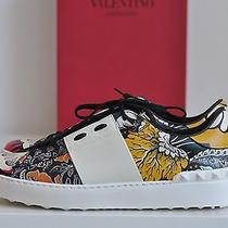 Nib Auth Valentino Leather Stud Studded Graphic Lace-Up Sneaker Shoes Sz 11 / 41 Photo