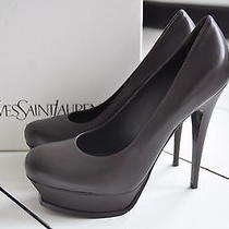 Nib Auth Ysl Yves Saint Laurent Tribute 105 Platform Pump Shoes Heel 10.5 / 40.5 Photo