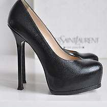 Nib Auth Ysl Yves Saint Laurent Tribute Two Tribtoo Platform Pump Heel 8.5 38.5 Photo
