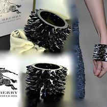 Nib Authentic 900 Burberry Prorsum Runway Studded Cdc Spike Cuff Black Bracelet Photo
