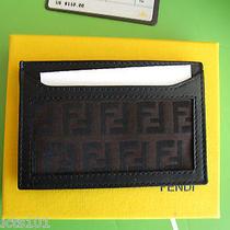 Nib Authentic Fendi Zucchino Credit Card Case  W/ Dust Cover  Great Gift Photo