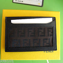 Nib Authentic Fendi Zucchino Credit Card Case  W/ Dust Cover  Great Gift Photo