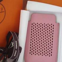 Nib Authentic Hermes Swift Leather Iphone Case in Rare 5p Pink Photo
