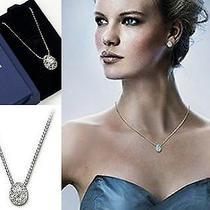 Nib Authentic Swarovski Clear Crystal Born Pendant Necklace Style 933611 Photo