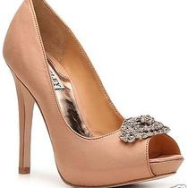 Nib Badgley Mischka Greatful Open Toe Pumps Heels Wedding Bridal Shoes Camel 8 Photo