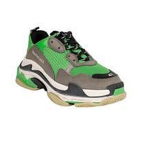 Nib Balenciaga Green/gray Mesh 'Triple s' Sneakers Shoes Size 8/41 875 Photo