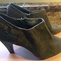 Nib Bandolino Bootie Suede Gray Womens Kaeto Pointed Toe Ankle Boot Heel 8 1/2 M Photo